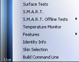 בדיקת דיסק קשיח אפשרויות בדיקה HDDScan