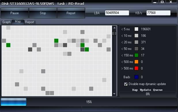 בדיקת דיסק קשיח MAP HDDScan